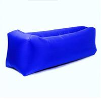 Lumière sac de couchage gonflable étanche Lazy bag sofa Sacs de couchage de camping adulte air Plage Salon Chaise pliante rapide