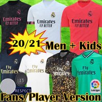 20 21 maillots real madrid Version joueur maillots de football HAZARD JOVIC MILITAO camiseta 2020 2021 VINICIUS ASENSIO player version maillot de football équipement pour enfants