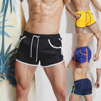 Trunks de bain respirants pour hommes Pantalons Maillots de bain Shorts Slim Porter Bikini Maillot de bain Trunks de natation pour hommes Badehose Sunga
