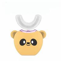 V-white escova de dentes de luz fria branqueamento bonito animal panda escova de dentes crianças automática crianças escova de dentes elétrica
