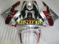 Motorrad Verkleidungskörper Kit für KAWASAKI Ninja ZX9R 94 95 96 97 ZX 9R ZX-9R 1994 1997 Rot Silber Verkleidungen Bodywork + Geschenke KG30