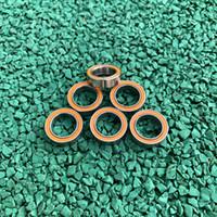 6 قطع S6800-2RS 10x19x5 ملليمتر ABEC-7 المقاوم للصدأ الهجين Si3n4 السيراميك تحمل 6800RS 6800 2rs cb ld الصيد بكرة 10 * 19 * 5 ملليمتر