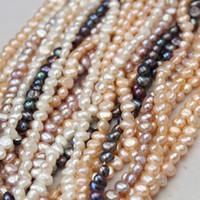 Commercio all'ingrosso 100% reale 4-9mm multicolori d'acqua dolce naturale irregolare perla in rilievo allentato perla del filo del branello Baroque Pearl incagliano la collana