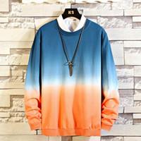 2020 Sonbahar Erkek Sweatershirt Hoodie Yeni Moda Yaka Yavaş yavaş Renk Uzun Kollu Muhafız Kazak Kazak M-5XL