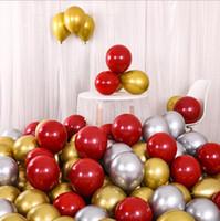 20PCS rojo, oro, plata metálico de látex globos nacarados metal Colores Oro globo Globos fiesta de cumpleaños de boda Suministros globo
