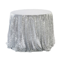 Champagne gold silver rose blue Sequins TableCloth Square Ro...