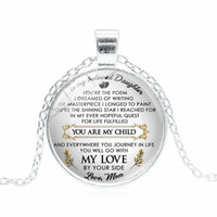 You Are My Child My Love Necklace Letter Mother Father Love ...