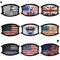 Bandera americana Diseñado partido lindo divertido de algodón animado Máscara para adultos contra la boca del polvo de mufla Máscara reutilizable lavable del oído Loop FY9120 Máscara