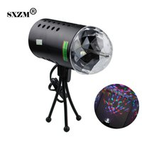 3 W LED RGB Bola de Cristal Som Efeito de Iluminação de Palco Ativo para Festa de Iluminação de Casamento Show de Celebrações lâmpada DJ Discoteca