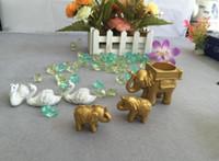 Hot Golden Lucky Elephant Place Place Posiadacz Karty Posiadacze Nazwa Numer Tabela Place Wedding Favor Prezent Unikalny Party Favor