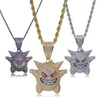 Hip Hop Bling Bling Iced out Necklace Gengar Full 3A Cubic Z...