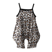 Baby Girls SO Jumpsuit Vêtements Léopard Boutique Boutique Vêtements Enfants Été Summer Suspendu Onesie Suspender Neuf 2020