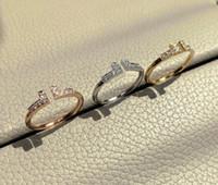 Tendrán impresa de diamante de 925 anillos de plata esterlina amor Bagué Anillos par de mujeres se casan los anillos de compromiso de bodas hace amantes de la joyería de regalo