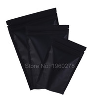 """высокое качество 10x15 см (3.9х5.9"""") с металлизированной лавсановой resealable пластичный мешок сумки черные стоят вверх ziplock мешок"""