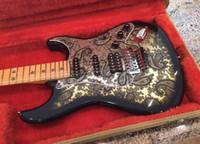 Richie Sambora firma ST chitarra 1996 nero Paisley elettrico, Floyd Rose Tremolo Ponte, dado di bloccaggio, SSH Pickups, Stella Tastiera Inlay