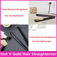 Famoso V Gold Max Hair Straightener Classic Styler professionale Fast Hair Straighteners Iron Hair Styling