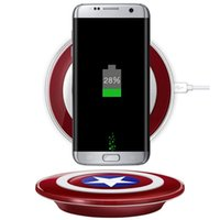 Qi Wireless Charger Pad Fast charging Accesorios Captain Ame...