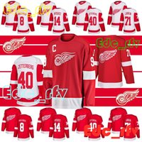 bdffd06e6 New Arrival. Detroit Red Wings hockey jersey 71 Dylan Larkin 40 Henrik  Zetterberg ...
