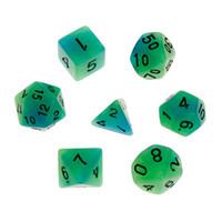 7шт / комплект Luminous Многогранного кубик D4 D6 D8 D10 D12 D20 Набор для Dungeons Dragon DD RPG Poly игр
