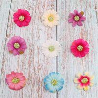 7 ألوان الزهور الاصطناعية جديد حار جيد محاكاة زهرة صغيرة قفزة السحلية أقحوان زهرة رئيس ديزي بالجملة
