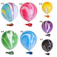 10 inç özellikli akik balon baskılı bulut topu düğün çubuğu KTV dekoratif mermer hareli baskılı balon