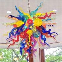 Лампы Multi цветные ручной вручную стеклянную люстру для свадьбы гостиной спальня висит подвесной светильник современный арт потолочные светильники