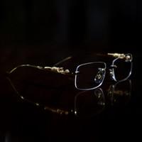 الجملة-مصمم إطارات بصري ليوبارد الذهب بوفالو القرن نظارات المرأة النظارات الرجال النظارات الشمسية مصمم نظارات واضح مصمم فرملس