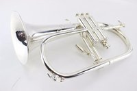 عالية الجودة الأمريكية Flugelhorn الفضة مطلي-B شقة ب ب المهنية البوق الأعلى آلات موسيقية براس Trompete القرن
