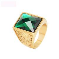 드래곤과 피닉스 보석 보석 반지 골드 컬러 티타늄 스틸 그림 반지 주조 로얄 반지 무료 배송