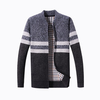 Men Winter Cardigan Sweaters Thicker Warm Outwear Sweaters C...