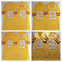 NCAA Retro Vintage 99 Warren Sapp Jersey 63 Roy Selmon 40 Mike Alstott 56 Hardy Nickerson Erkek Dikişli Futbol Formaları