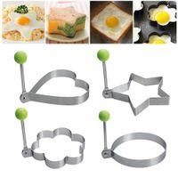 Pancake Moule Moule inoxydable Egg en acier Omelette moule Outils cuisson pâtisserie Accessoires de cuisine Moule étoile ustensiles de cuisson