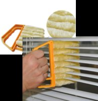 6 اللون ستوكات نافذة فرشاة تنظيف مكيف الهواء المنفضة منظف مع قابل للغسل الستائر بليد تنظيف القماش