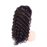 Péruvien cheveux humains 13x4 dentelle de dentelle avant perruque naturelle de la dentelle de la dentelle de la dentelle avant perruque de lace de cheveux 8-24inch