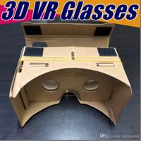 100X DIY 3D очки Google картонный VR BOX II 2.0 Версия VR виртуальной реальности VR 3D очки для 3,5 - 6,0-дюймовый смартфон NEW iphone X 5 6 7