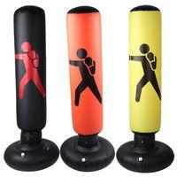 Sac de boxe gonflable de 160 cm adulte enfants boxe poinçon coup de saut de sable sandbag pvc gymbler gym gym cible de formation