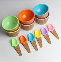 New Seguro Alimentação Placas bebê Bowls infantil Louça alimentar contentores Copos crianças Pratos Ice Cream Bowls Spoons Louça presente