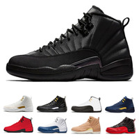 cheap wholesale man Basketball shoes 12 12s WNTR Dark Grey w...