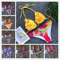 2019 New Sexy Bikini Swimwear Women Push Up Swimsuit Halter ...