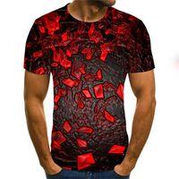 Moda T shirt Uomo di Hip Hop 3D Print maglietta Streetwear estive rapida Dry T-shirt Maglie a manica corta T Y029