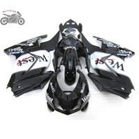 Injection Motorcycle fairings kit for Kawasaki Ninja 250R ZX250R ZX 250 2008-2014 EX250 08-14 road race fairing set black west bodywork
