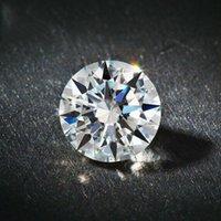Loose Gemstones D Cor Super Branco Rodada Americana Imported Moissanite Diamond Carat 18k Gold PT950 Anel Colar Inlay