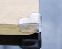 Enfant de sécurité élastique souple protecteur forme de coeur Collission Prévention Angle bureau Table d'angle Bord Protection couverture collision enfants Angle