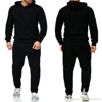 Brand Pullover Sets Herren Trainingsanzüge Beiläufige Hoodies Hosen Herren Sportswear Panel Hoody Sweatshirt Männliche Anzüge Jogging Sweatpant 2-tlg