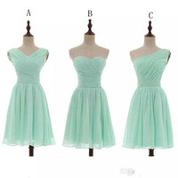 Chiffon Ball Gown Sweetheart Pleated Short Bridesmaid Dresse...