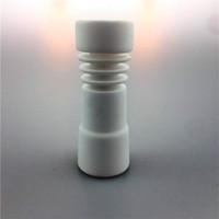 Clous en céramique populaires 14mm avec clou en céramique en spirale pour bongs en verre sans dôme pour fumer