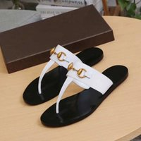 Leather Thong Metal Chain Flip Flops Slippers Sandals Women ...