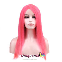 Rose Pink Brazilian Hair Short Lace Front Human Hair Wigs Br...