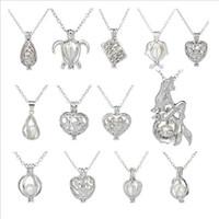 Desideri regalo perla 20mm Cage Chokers Collana per le donne con ostrica Amore perla Collana a catena pendente Collana