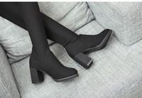 حار بيع أحذية المرأة مع أحذية Overknee مطاطا أحذية طويلة النساء شارب